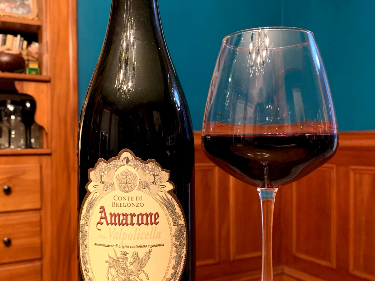 Amarone Bottle and Glass